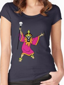 Scooby Doo Witch Doctor Villain Women's Fitted Scoop T-Shirt