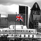 Union Jack on the HMS Belfast by Graham Taylor