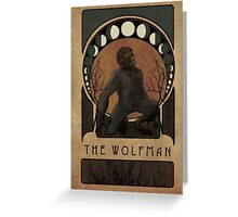 Wolfman Nouveau Greeting Card