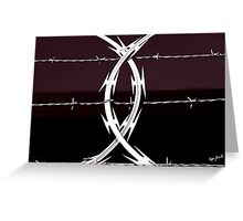 Razor Wire Greeting Card