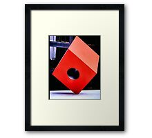 Red Cube Framed Print