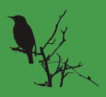Little Birdy - Black Kids Tee