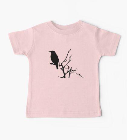 Little Birdy - Black Baby Tee