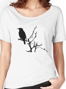 Little Birdy - Black Women's Relaxed Fit T-Shirt