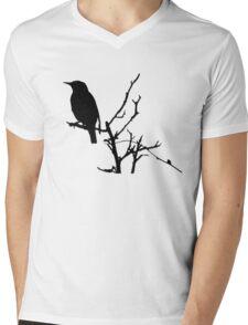 Little Birdy - Black Mens V-Neck T-Shirt