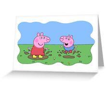 peppa pig  Greeting Card