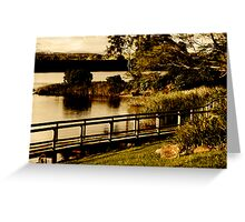 old fashioned postcard- manning river Greeting Card