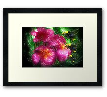 Flowers For The Bees Framed Print