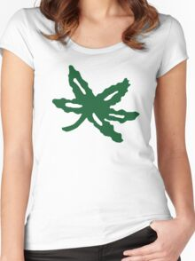 Ohio State Buckeye Leaf Women's Fitted Scoop T-Shirt