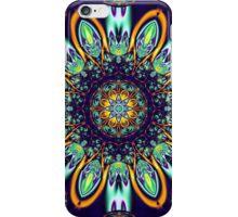 Artistic floral kaleidoscope iPhone Case/Skin