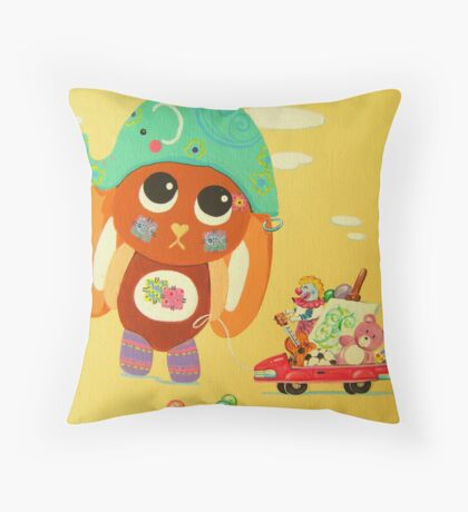 Phoebe's Playtime Throw Pillow