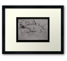 Drawings in the Dark: No3 Framed Print