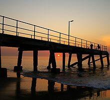 Normanville Jetty sunset by Matt Harvey