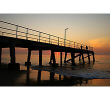 Normanville Jetty sunset Photographic Print