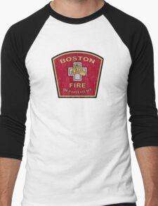 Boston Fire Department Men's Baseball ¾ T-Shirt