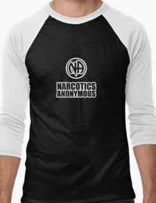 Narcotics Anonymous Chunky White Men's Baseball ¾ T-Shirt