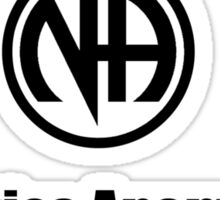 Narcotics Anonymous Small Black Sticker