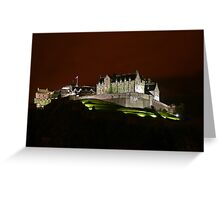 Edinburgh Castle at Night Greeting Card