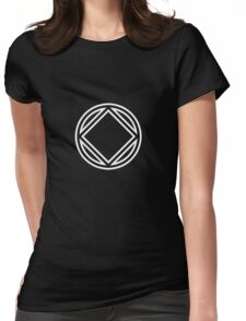Chunky Symbol White Womens Fitted T-Shirt