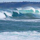 Surf Thunder - Newcastle Beach NSW by Bev Woodman