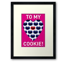 COOKIE MONSTER VALENTINE'S CARD 3 Framed Print