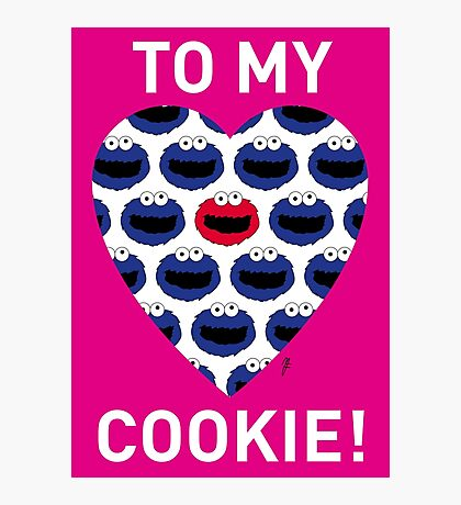 COOKIE MONSTER VALENTINE'S CARD 3 Photographic Print