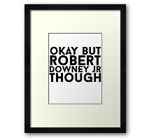 Robert Downey Jr. Framed Print