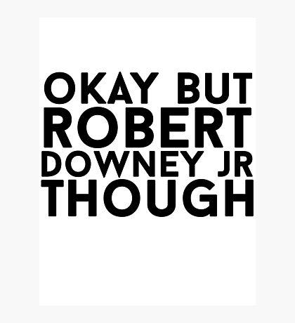 Robert Downey Jr. Photographic Print