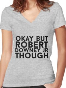 Robert Downey Jr. Women's Fitted V-Neck T-Shirt