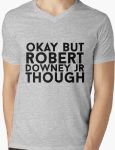 Robert Downey Jr. Mens V-Neck T-Shirt