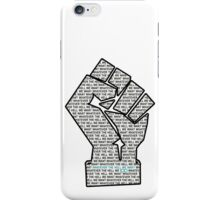 """Whatever the hell we want"" on white background iPhone Case/Skin"