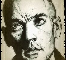 Michael Stipe REM drawing by RobCrandall