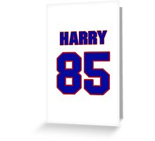 National football player Harry Holt jersey 85 Greeting Card