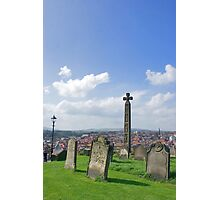 Gravestones & Caedmons Cross Photographic Print