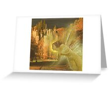 Fairy blessing the Laird Greeting Card
