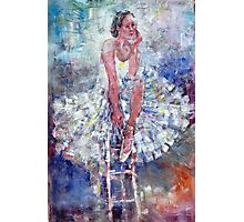 Ballet Dancer on the Stool Photographic Print
