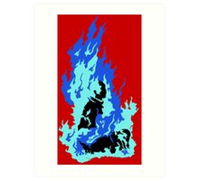 Self-Immolation Art Print