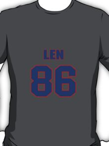 National football player Len Burnett jersey 86 T-Shirt
