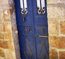blue antique door . by zangi12