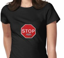 Stop Eating Animals T-Shirt Womens Fitted T-Shirt