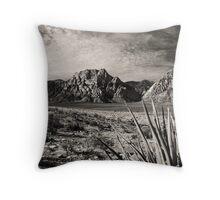 Red Rock in Selenium Throw Pillow