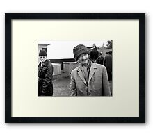 Rooster today, feather duster tomorrow. Framed Print