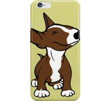 English Bull Terrier Pup Brown  iPhone Case/Skin