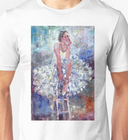 Ballet Dancer on the Stool Unisex T-Shirt