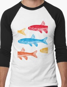 Colourful Fish Men's Baseball ¾ T-Shirt