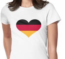 Germany flag heart Womens Fitted T-Shirt