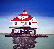 Old Plantation Flats Lighthouse. by fbkohli