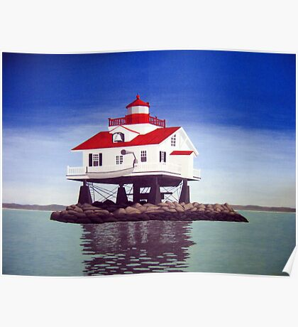 Old Plantation Flats Lighthouse. Poster