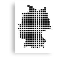 Germany pixel map Canvas Print