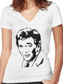 Peter Falk Columbo Women's Fitted V-Neck T-Shirt